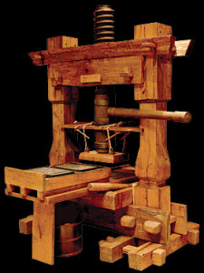 Replica of Gutenberg's Movable-Type Printing Press