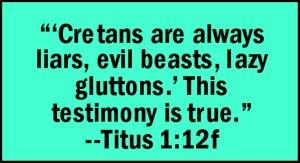 Cretans are liars Text