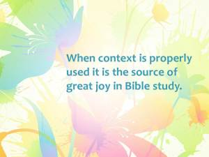Context Makes Bible Study Blossom (Pict 2)