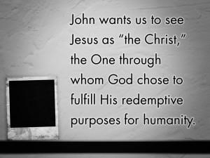 John's Unique Picture of Jesus (Pict 3)