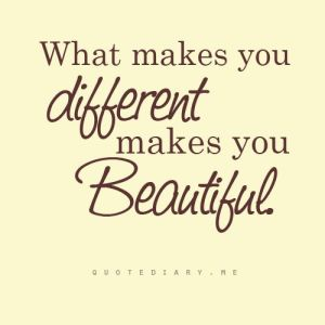 what makes you different makes you beautiful#1