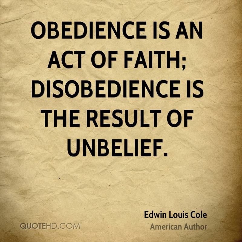 """the disobedience of saul and his No matter how much saul claimed to have fully carried out god's will, there was evidence that he had not what tactic(s) did saul use to attempt to explain his actions you may want to read the rest of 1 samuel 15 when samuel delivered his rebuke, saul tried to """"spiritualize"""" his disobedience the best of."""