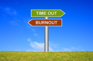 Sign showing burnout or time out