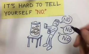 """It's hard to tell yourself, """"no."""""""