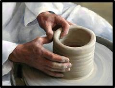 Man At Pottery Wheel