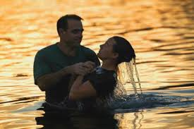 being baptized